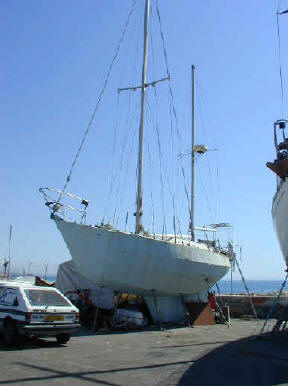 trireme steel ketch for auction