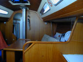 X yacht for sale in Cyprus - dinette of the X119