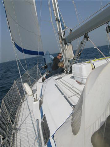 Bavaria 34 cruising yacht - sailing in the med is a joy
