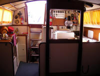 The Bowman 36 has a useful working galley in the right position for catering at sea