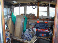 Catfisher interior - The wheelhouse