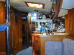 Cheoy Lee custom offshore cutter for sale - looking aft