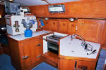 Cheoy Lee custom offshore cutter for sale - galley