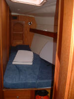 Hunter yacht for sale - ready to go liveaboard. Sleeps 8 in 4 cabins - One of the cabins.