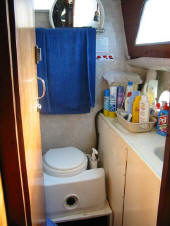 Oceanic catamaran for sale - the heads