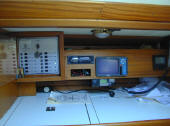 X yacht for sale in Cyprus - nav station of the X119