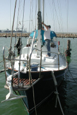 A steel ketch is for sale in Cyprus